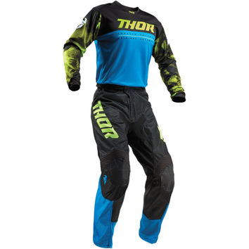 Tenue Cross Enfant 2019 Thor Pulse Air Acid - Bleu Noir