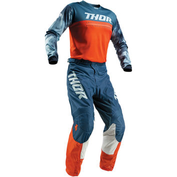 Tenue Cross Enfant 2019 Thor Pulse Air Acid - Orange Gris