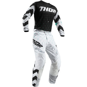 Tenue Cross Enfant 2019 Thor Pulse Stunner - Noir Blanc