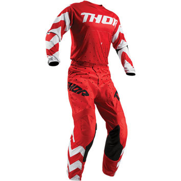 Tenue Cross Enfant 2019 Thor Pulse Stunner - Rouge Blanc