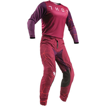 Tenue Cross 2019 Thor Prime Pro Infection - Rouge Bordeaux Orange