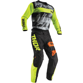 Tenue Cross 2019 Thor Pulse Savage Big Cat - Noir Lime
