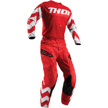 Tenue Cross 2019 Thor Pulse Stunner - Rouge Blanc