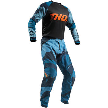 Tenue Cross 2019 Thor Sector Camo - Bleu