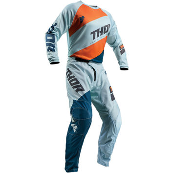 Tenue Cross 2019 Thor Sector Shear - Sky Bleu Orange