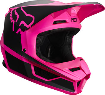 Casque cross enfant Fox 2019 V1 Przm - Noir Rose