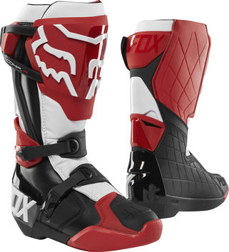 Bottes cross Fox 2019 Comp R - Rouge Noir Blanc