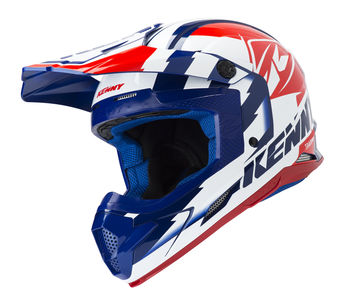 Casque cross Kenny 2019 Track - Bleu Blanc Rouge