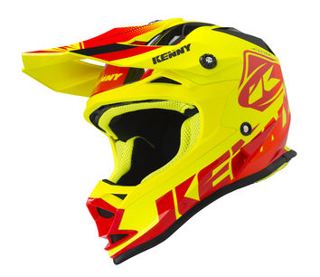 Casque cross enfant Kenny 2019 Track - Rouge Jaune Fluo