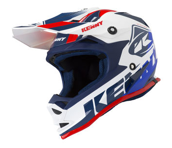 Casque cross enfant Kenny 2019 Track - Blanc Rouge
