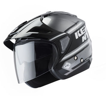 Casque cross Kenny 2019 Evasion - Noir Gris