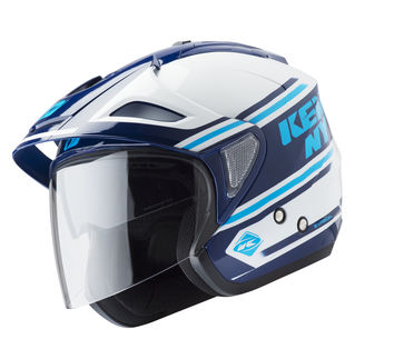 Casque cross Kenny 2019 Evasion - Blanc Bleu