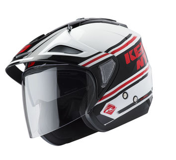 Casque cross Kenny 2019 Evasion - Blanc Rouge Noir