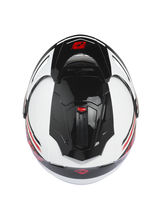 Casque cross Kenny 2019 Evasion - Blanc Rouge Noir 55/56 - S