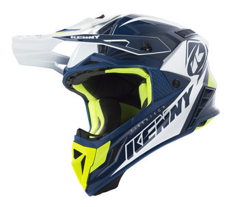 Casque cross Kenny 2019 Trophy - Bleu Blanc