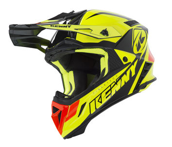 Casque cross Kenny 2019 Trophy - Jaune Fluo Orange