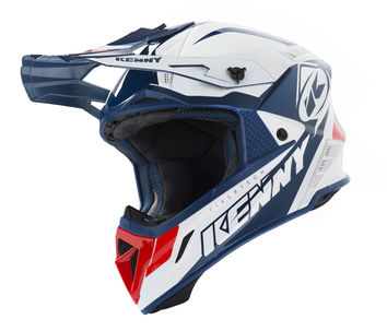Casque cross Kenny 2019 Trophy - Blanc Rouge Bleu