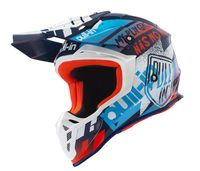 Casque cross Pull-In by Kenny 2019 Trash - Bleu Orange