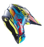 Casque cross Pull-In by Kenny 2019 Trash - Bleu Cyan Rouge