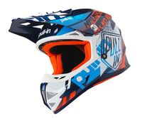 Casque cross enfant Pull-In by Kenny 2019 Trash - Bleu Orange