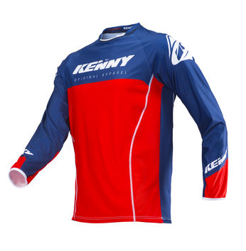Maillot cross Kenny 2019 Titanium - Rouge Bleu