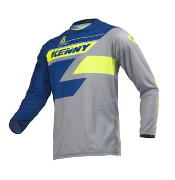 Maillot cross Kenny 2019 Track - Bleu Lime