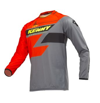Maillot cross Kenny 2019 Track - Orange Gris Jaune Fluo