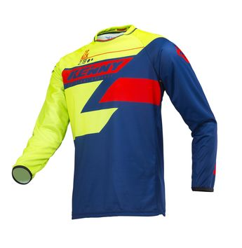 Maillot cross enfant Kenny 2019 Track - Lime Bleu Rouge 3XS - 6/8 ans