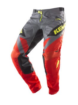 Pantalon cross Kenny 2019 Track - Orange Gris Jaune Fluo