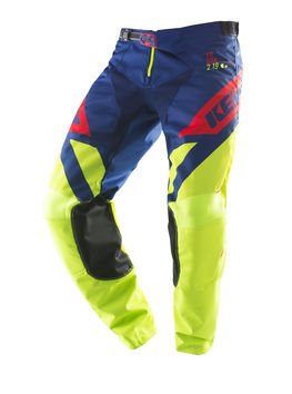 Pantalon cross Kenny 2019 Track - Lime Bleu Rouge