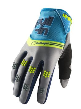 Gants cross Pull-In by Kenny 2019 Challenger - Bleu Cyan Gris