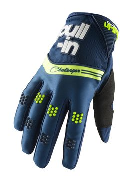 Gants cross enfant Pull-In by Kenny 2019 Challenger - Bleu Lime