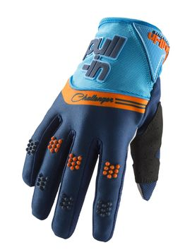 Gants cross enfant Pull-In by Kenny 2019 Challenger - Bleu Orange 04 - 7/9 ans