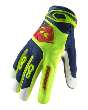 Gants cross enfant Kenny 2019 Track - Lime Rouge 06 - 13/14 ans