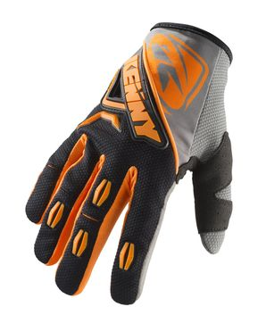 Gants cross Kenny 2019 Titanium - Noir Orange Fluo