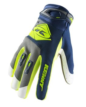 Gants cross Kenny 2019 Track - Bleu Lime