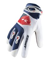 Gants cross Kenny 2019 Track - Blanc Bleu Rouge