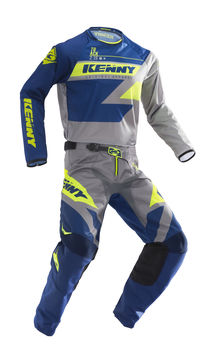 Tenue cross enfant Kenny 2019 Track - Bleu Lime