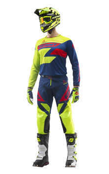 Tenue cross Kenny 2019 Track - Lime Bleu Rouge