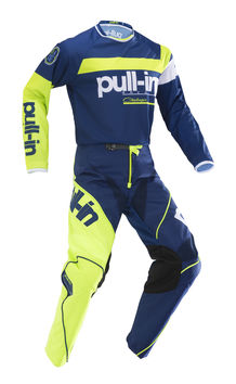 Tenue cross enfant Pull-In by Kenny 2019 Challenger Race - Bleu Lime
