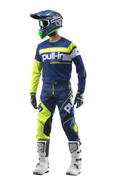 Tenue cross Pull-In by Kenny 2019 Challenger Race - Bleu Lime