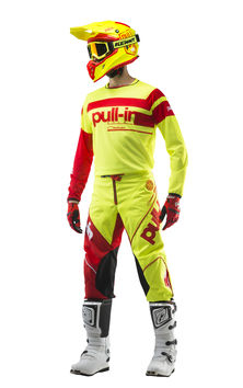 Tenue cross Pull-In by Kenny 2019 Challenger Race - Jaune Fluo Rouge