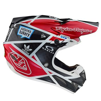 Casque cross Troy Lee Designs 2019 19.1 SE4 Carbon Metric - Noir Rouge