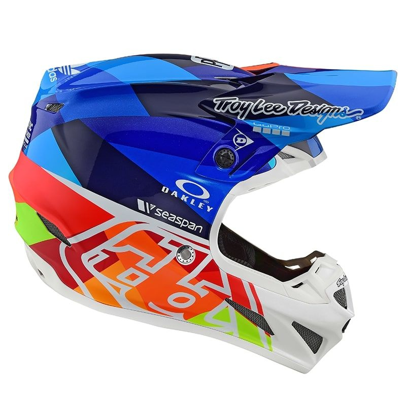 Casque Cross Troy Lee Designs 2019 191 Se4 Composite Jet Bleu