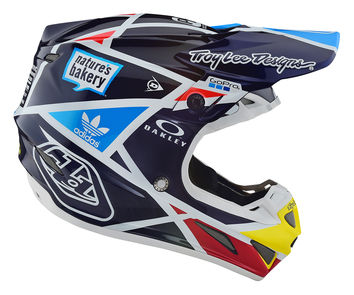 Casque cross Troy Lee Designs 2019 19.1 SE4 Carbon Metric - Bleu