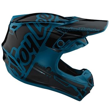 Casque cross Troy Lee Designs 2019 19.1 SE4 Polyacrylite Factory - Ocean