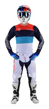 Tenue cross Troy Lee Designs 2019 19.1 SE Beta - Orange Bleu