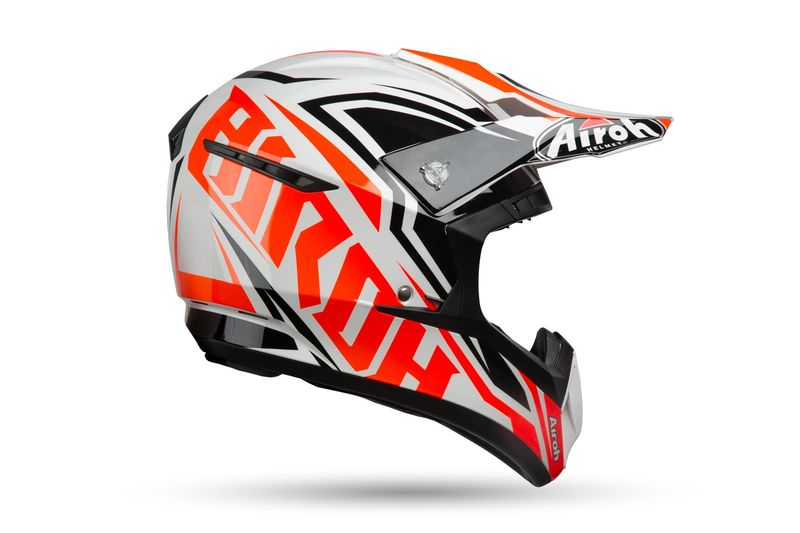 Casque Cross Airoh 2019 Switch Impact Orange 3as Racing