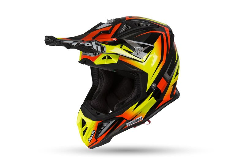 Casque Cross Airoh 2019 Aviator 23 Fame Orange Mat 3as Racing