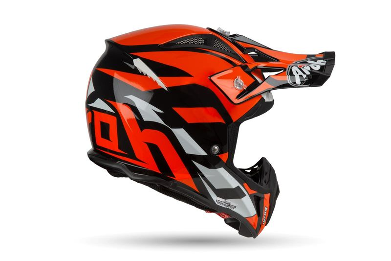 Casque Cross Airoh 2019 Aviator 23 Great Orange 3as Racing